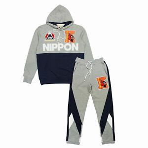Mens IRO OCHI Nippon Sweatsuit Heather Gray