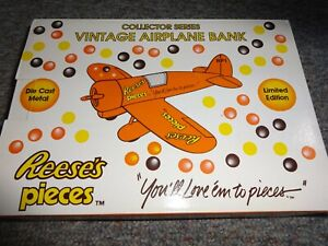 Spec Cast Reeses Pieces Vintage Airplane Coin Bank # 0864 1992 *NEW*