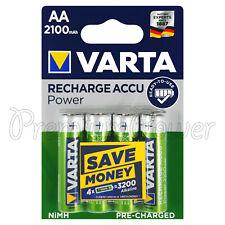 4 X Varta Aa 2100mAh Baterías Recargable NI-MH 1.2V HR6 LR6 Stilo Accu Potencia