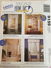 McCall's 9159 Sewing Pattern Window Treatments Home Decor Valance Swag Uncut