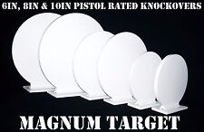 Steel Shooting Targets - 6,8&10 Inch Round Knockovers - NRA Action Pistol Plates