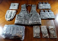 Fighting Load Carrier ACU w/ Lot of 23 MOLLE Pouches, US Army Surplus FLC