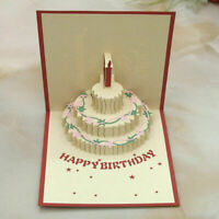 3D Up-Grußkarte Handgemachte Alles Gute zum Geburtstag Ostern NEU&L E0H7. C W4V2