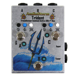 AudioStorm Trident 3-way Transformer Isolated Boutique ABY box. BRITISH MADE.