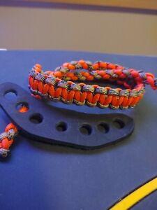 Archery Neon orange & camo Sling bow wrist strap FREE SHIP Mathews Hoyt