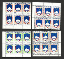 SLOVENIA-MNH** BLOCK OF 6 -DEFINITIVE-COAT OF ARMS-26.12.1991.