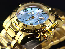 Invicta Reserve Men's Excursion Swiss Chrono Platinum MOP Dial 18K Gold IP Watch