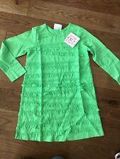 NWT NEW Hanna Andersson Girls Green Ruffle Dress 110