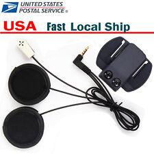 Mic/Speaker Headset & Clips/bracket for Motorcycle Helmet Interphone Intercom V6