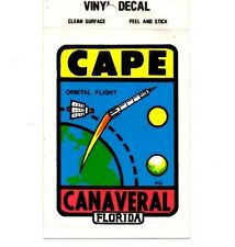 Lot of 12 Cape Canaveral, Fla Souvenir Luggage Decals Stickers - New - Free S&H