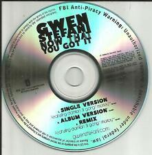 No Doubt GWEN STEFANI & DAMIAN MARLEY Now that you REMIX 3TRX PROMO DJ CD Single