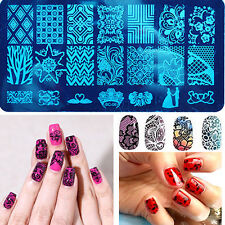 Lots 10X Nail Art Image Stamp Template Polish Stamping Plates Manicure Print HOT
