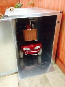 Mobility Scooter Storage Shed- Galvanised Steel FREE INSTALLATION & DELIVERY