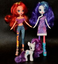 "My Little Pony 9"" Equestria Girls Rainbow Rocks Dolls Rarity & Sunset Shimmer"