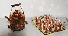 vintage copper tea set - Komplettes Kupfer Tee Kanne Stövchen Tablett Set ~60er