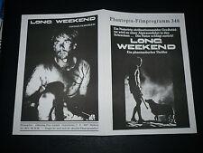 LONG WEEKEND, 4pg German Phantopia Film program [John Hargreaves, Briony Behets]