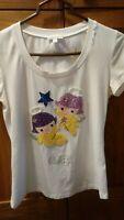 Pinko Top T shirt Gemini Size Large Medium Small White Sparkles Constellations