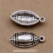 50pc Tibetan Silver Rugby Pendant Bracelet Charms Jewelry wholesale   JP1187