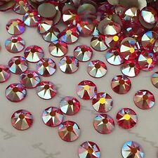 Swarovski Crystals 100 x ss20 Light Siam Red AB diamantes rhinestones - glue on