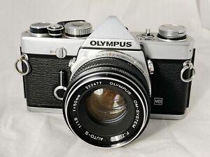 Olympus OM-1N Film Camera & 50mm F Zuiko f1.8 Lens, New Seals,