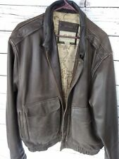 G-111 Authentic Leather Bomber Jacket Mens Medium