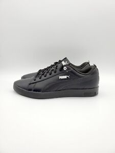 Puma Smash v2 Leather Womens Black Sneakers Size UK5 EU38