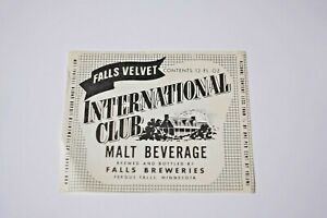 Falls Velvet International Club Malt Beverage - Fergus Falls MINNESOTA