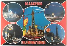 Blackpool illuminations multiscene postcard