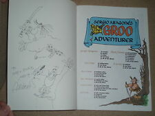 Sergio Aragones Original drawn & signed sketch The Groo Adventurer TPB 1990 Mint