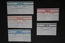 35 50-Stück Banderolen für jeden Euro Geldschein 5 Euro bis 100 Euro