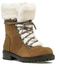 UGG AUSTRALIA WOMENS 6 US Chestnut Fur FRASER SHERPA LINED LACE UP WINTER BOOTS!