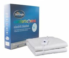 Silentnight Comfort Electric Control Polyester Blanket Double Bed Warm Winter