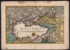SCHWARZES MEER / KRIM Landkarte 1750 schönes Original!