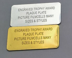 ENGRAVED TROPHY AWARD PLAQUE PLATE PICTURE FILMCELLS MANY SIZES & STYLES