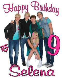 R5 HAPPY BIRTHDAY T-SHIRT Personalized Any Name/Age Ross Lynch Toddler to Adult