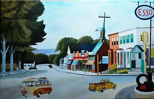 """EDWARD HOPPER HAND PAINTED OIL PAINTING ON CANVAS """"PORTRAIT OF ORLEANS"""" 39 X 25"""""""