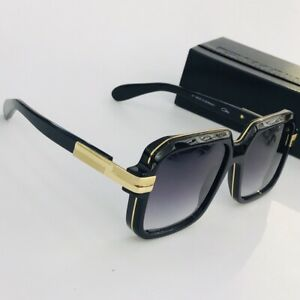 Vintage Cazal Sunglasses MOD 667/3 Black Frame Gray Gradient Lens Men