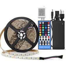 Waterproof RGBW 5M 300Leds 5050 LED Strip Light+Remote+12V Power for DIY Decor