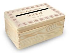 kl. Holzbox Briefbox (K3) Konfirmation Kommunion Geldgeschenke incl. Lasergravur