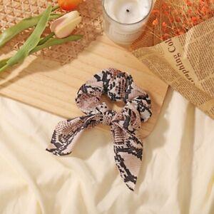1 PCS Women's Leopard Scrunchie Ponytail Holder Elastic Soft Hair Band Ring Ties