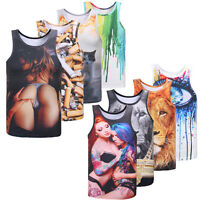 Sexy Mens Gym Muscle Sleeveless Shirt Tank Top T-shirt Bodybuilding Fitness Vest