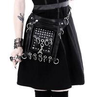 Restyle Gothic Punk Festival Tasch Beintasche / Schultertasche - Eyelets Holster
