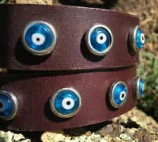 Evil Eye Dog Collar, eco-friendly, upcycled environmentally sustainable Dogtown