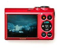 INFRAROT UMBAU CANON PowerShot A810 Digitalkamera 16MP Infrarotkamera Kamera rot