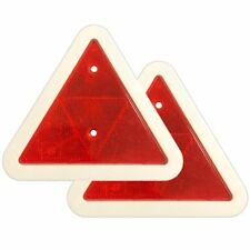 PAIR OF Screw In Warning Triangle REFLECTOR For Caravan Motorhome Truck Trailer