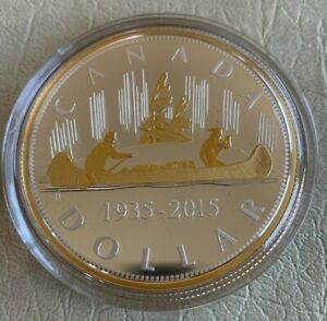 2015 $1 Fine Silver Coin Renewed Silver Dollar - The Voyageur