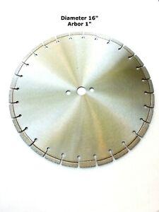 TechDiamondTools Diamond Segmented Saw Blade (16 inch, 1 inch arbor)