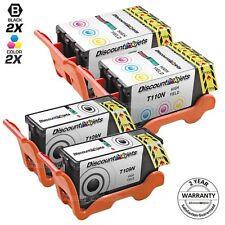 4pk for Dell Series 21 22 23 24 Y498D Y499D Black & Color Ink Cartridge V715 313