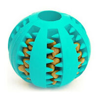 Dog Interactive Chew Toys Pet Food Treat Feeder Puppy Tooth Rubber Ball