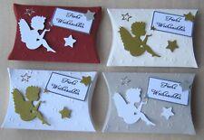 Gastgeschenke Schachtel Pillow Box Kartonage Tischdeko ENGEL STERNE Weihnachten
